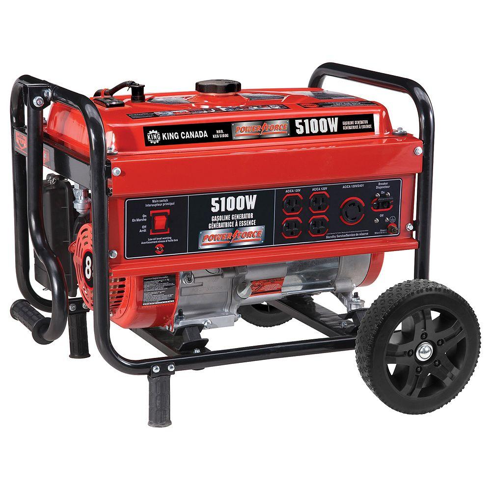 King Canada 5100W Gasoline generator with wheel kit