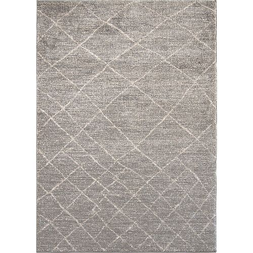 Notre Dame Design Alberto Gray 5 ft. X 8 ft. Indoor Area Rug