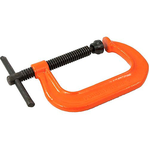 DYNAMIC TOOLS 4 inch Drop Forged C-Clamp, 0 - 4 inch Capacity