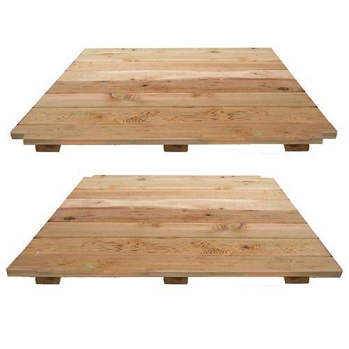 4 ft. X 8 ft. Red Cedar Decking Kit