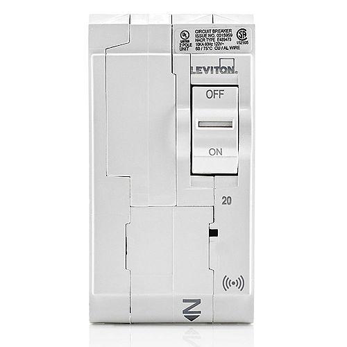 20A 120/240V Bipolaire disjoncteur hydraulique magnétique intelligent enfichable