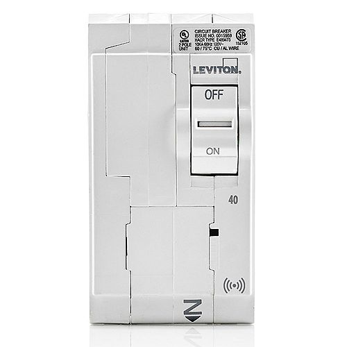 40A 120/240V Bipolaire disjoncteur hydraulique magnétique intelligent enfichable