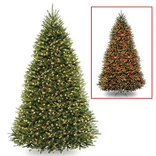 9 ft. Dunhill Fir Tree with Dual Color LED Lights