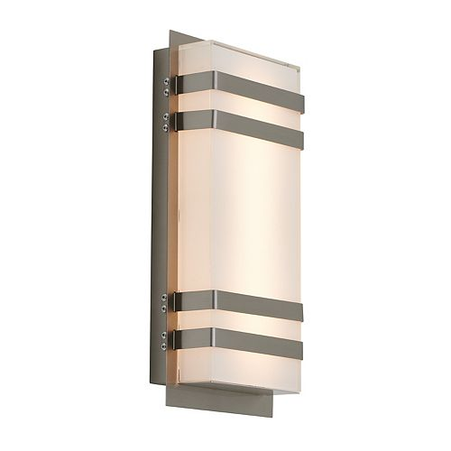 Glowbox 3-Stainless Steel Integrated LED Indoor/Outdoor Wall Light