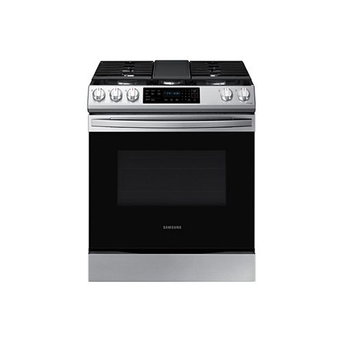6.0 cu.ft. Slide-In Single Oven Gas Range with Self-Cleaning in Fingerprint Resistant Stainless Steel