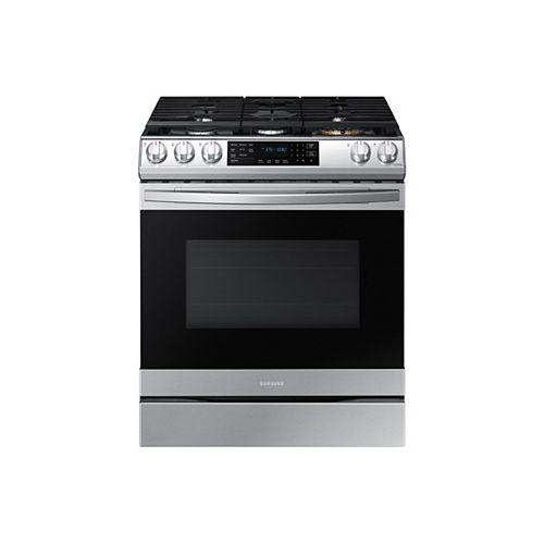 6.0 cu.ft. Slide-In Single Oven Gas Range with True Convection Oven in Fingerprint Resistant Stainless Steel