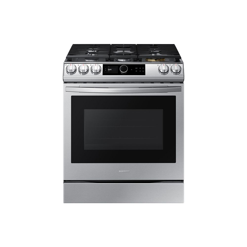 Samsung 6.0 cu.ft. Slide-In Single Oven Gas Range with Air Fry in Fingerprint Resistant Stainless Steel