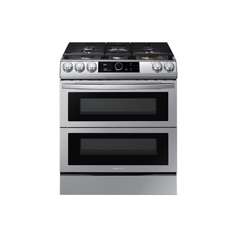 Samsung 6.0 cu.ft. Slide-In Double Oven Gas Range NY63T8751SS
