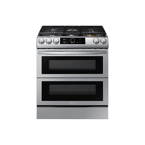 6.0 cu.ft. Slide-In Double Oven Dual Fuel Range with with True Convention Oven in Stainless Steel