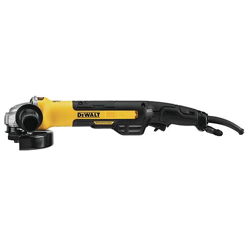 DEWALT 13 Amp Corded 5-inch to 6-inch Brushless Angle Grinder with Rat Tail