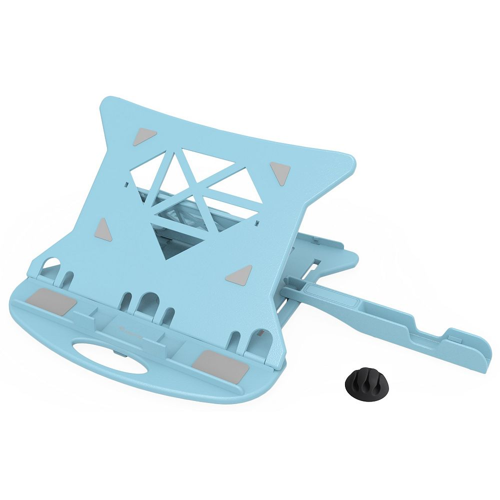 Home Depot Adjustable Ventilated Foldable Laptop Stand for Notebook Computers and Tablets in Blue