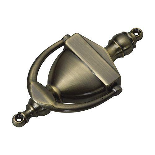 Door Knocker, Antique Brass, 6 1/4 in (159 mm)