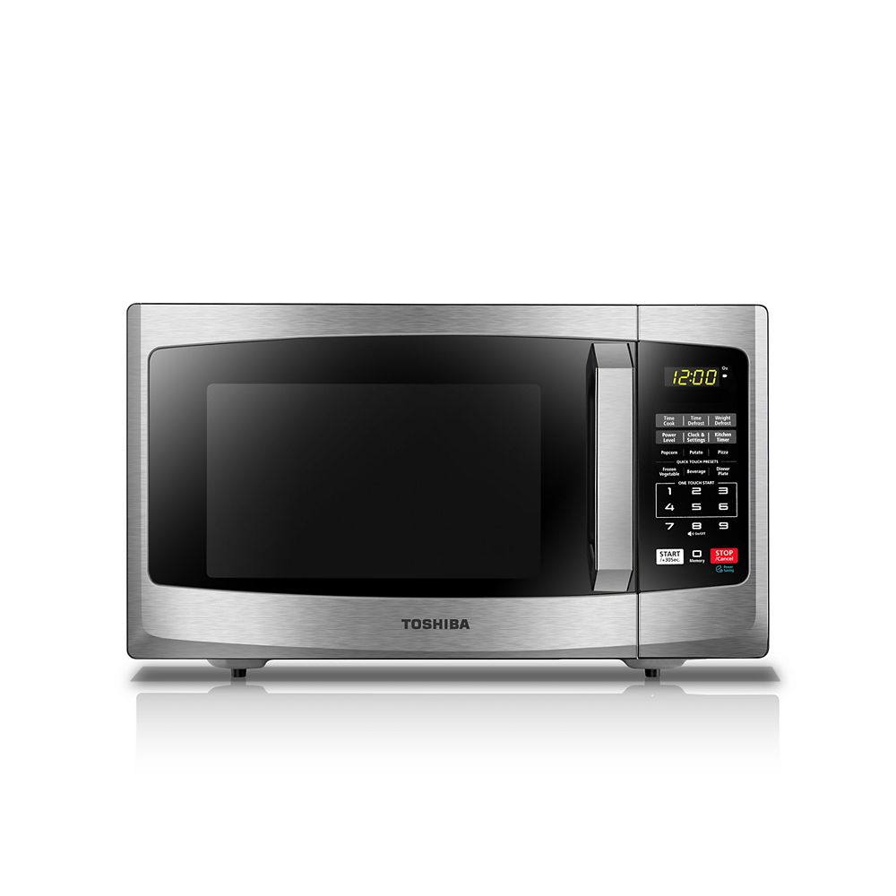 Toshiba Countertop Microwave Oven 0.9 cu.ft. Black Stainless Steel