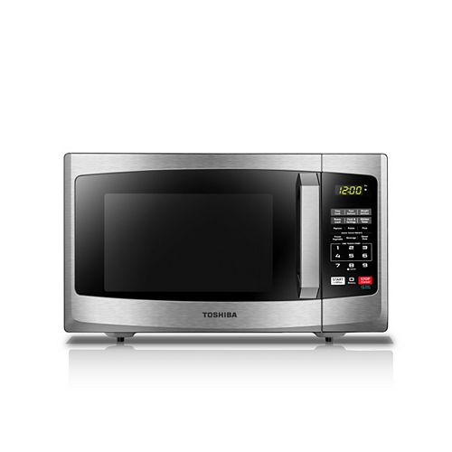 Countertop Microwave Oven 0.9 cu.ft. Black Stainless Steel