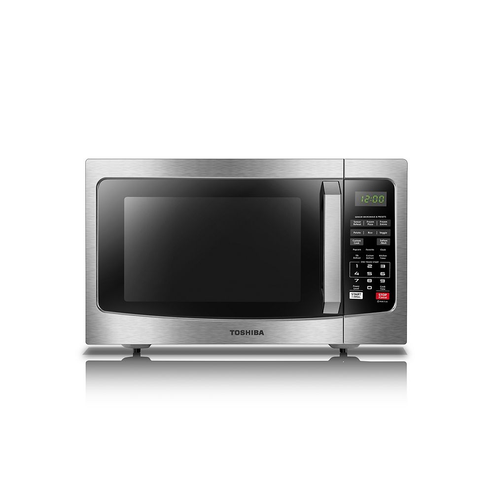 Toshiba 1.2 cu. ft. 1100W Countertop Microwave Oven in Stainless Steel