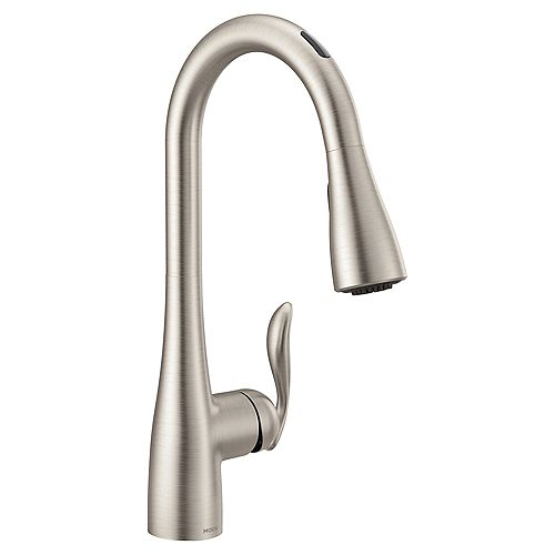 U By Moen Arbor Pull-Down Smart Kitchen Faucet In Spot Resist Stainless