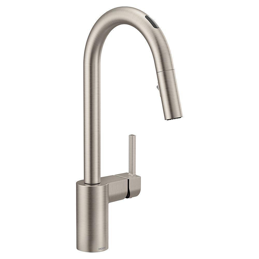 MOEN U By Moen Align Pull-Down Smart Kitchen Faucet In Spot Resist Stainless