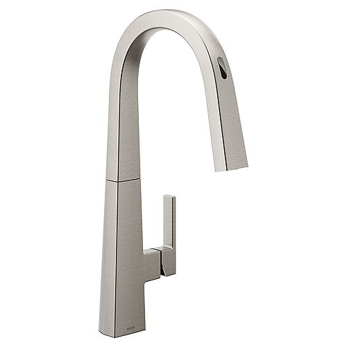 U By Moen Nio Pull-Down Smart Kitchen Faucet In Spot Resist Stainless