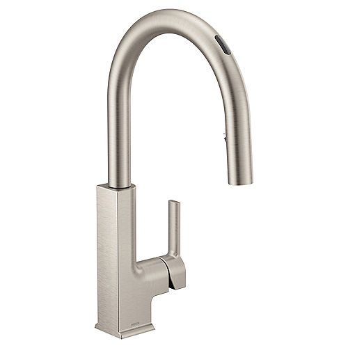 U By Moen Sto Pull-Down Smart Kitchen Faucet In Spot Resist Stainless