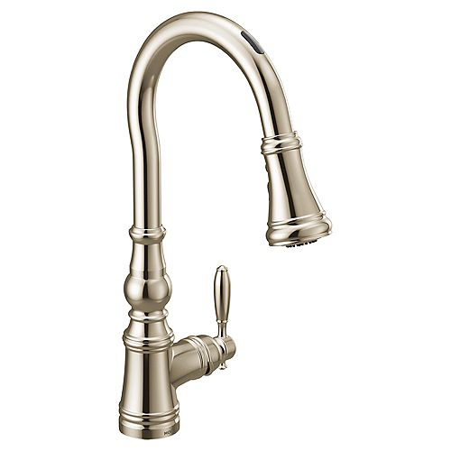 U By Moen Weymouth Pull-Down Smart Kitchen Faucet In Polished Nickel