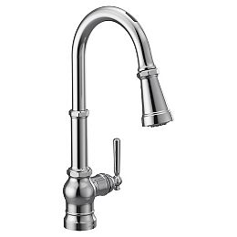 U By Moen Paterson Pull-Down Smart Kitchen Faucet In Chrome