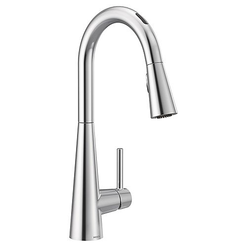 Sleek Pull-Down Smart Kitchen Faucet In Chrome