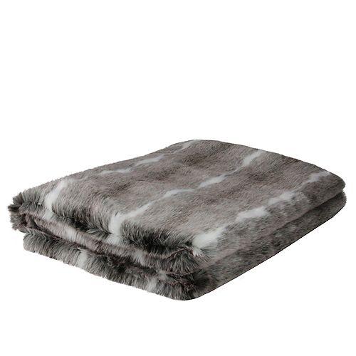 "Blanc et Gris contemporain Throw Blanket 50"" x 60"""