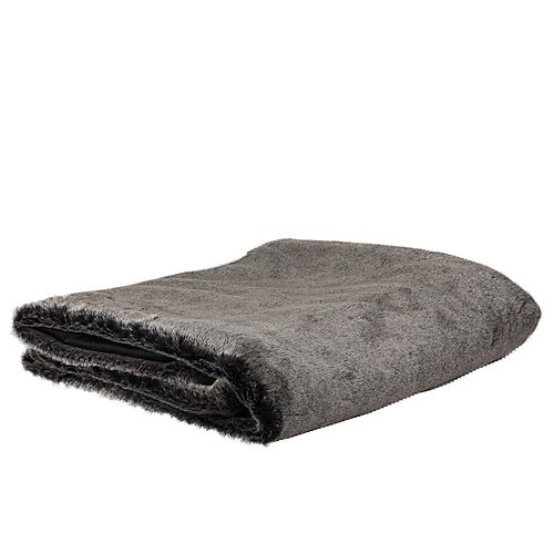 "Northlight Charcoal Gray Faux Fur Super Plush Throw Blanket 50"" x 60"""
