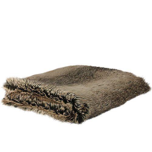 "Northlight Chocolate Brown Faux Fur Super Plush Throw Blanket 50"" x 60"""