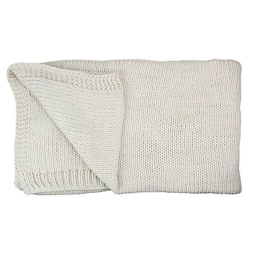 """Ivoire en peluche super Tricoté Throw Blanket avec étui de transport Band 60"""" x 60"""""""