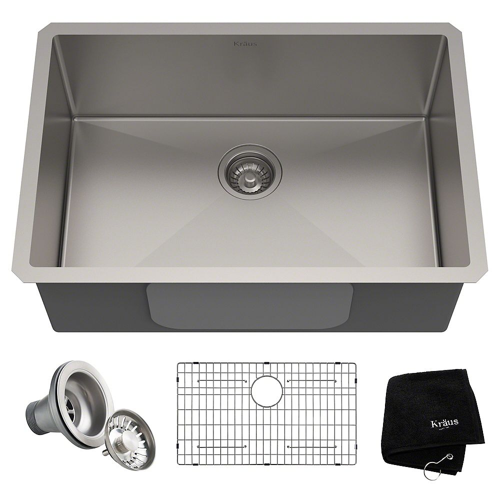 Standart PRO Undermount Stainless Steel 20 inch Single Bowl Kitchen Sink
