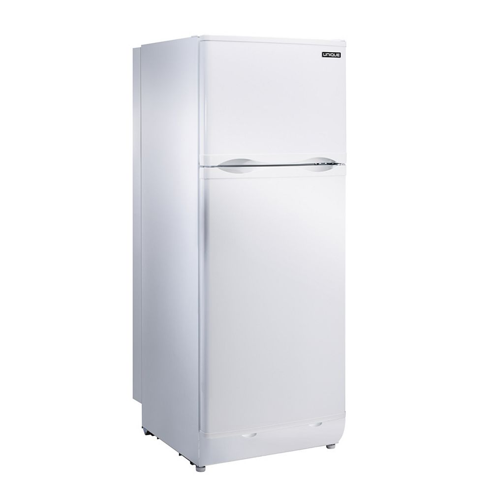 Unique 8.0 cu. ft. Propane Top Freezer Refrigerator with CO Alarming Device and Safety Shut-Off in White