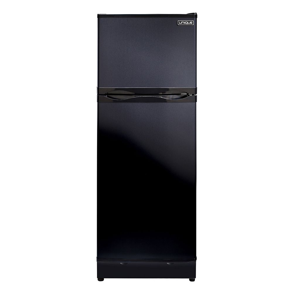 Unique 8.0 cu. ft. Propane Top Freezer Refrigerator with CO Alarming Device and Safety Shut-Off in Black