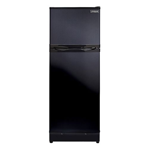 8.0 cu. ft. Propane Top Freezer Refrigerator with CO Alarming Device and Safety Shut-Off in Black