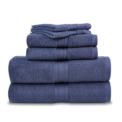 Martex 6 Piece Zero Twist Towel Set - Blue Indigo