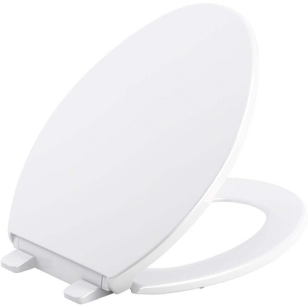 KOHLER Brevia Quiet-Close elongated toilet seat in White