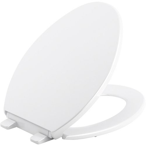 Brevia Quiet-Close elongated toilet seat in White