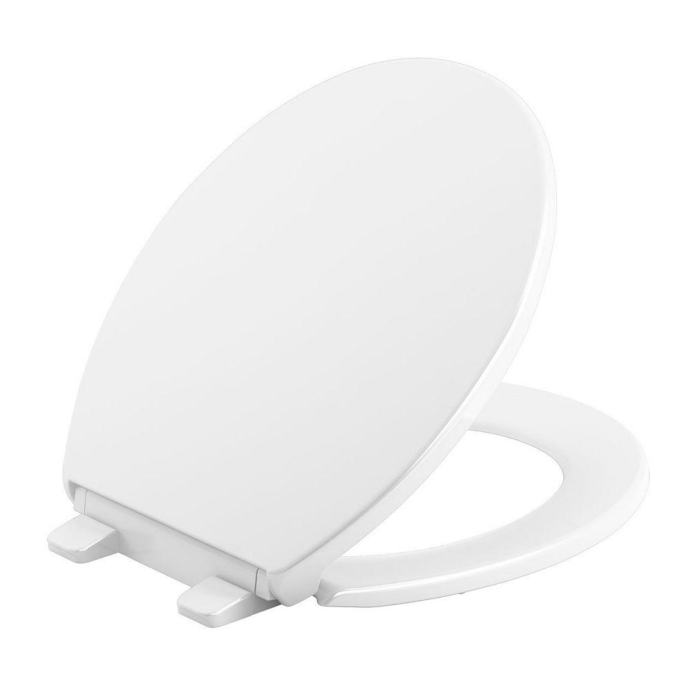 KOHLER Brevia Quiet-Close Round toilet seat in White