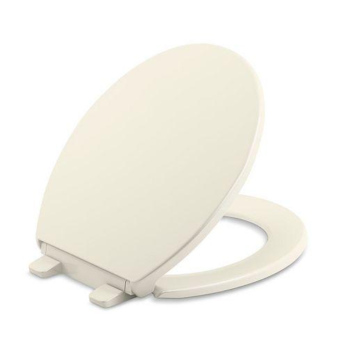 KOHLER Brevia Quiet-Close Round toilet seat in Biscuit