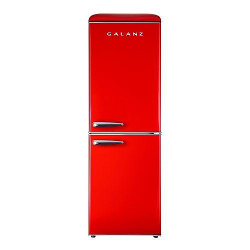 Réfrigérateurs à congélateur inférieur rétro