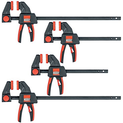 BESSEY BESSEY 4 Piece Trigger Clamp Set Containing 2 each 6 inch and 12 inch
