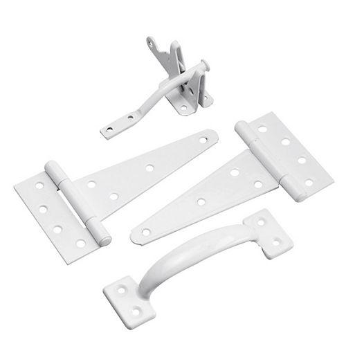 Gate Hardware Kit, White