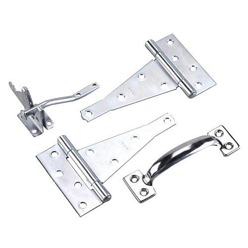 Gate Hardware Kit, Zinc (2G)