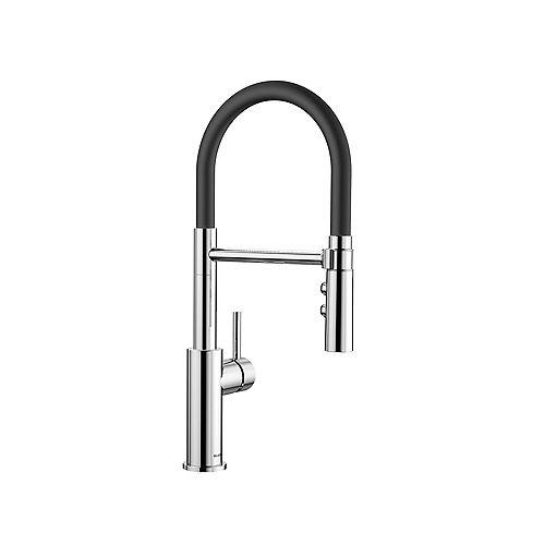 CATRIS FLEXO, Semi-professional Pull-down Kitchen Faucet, 1.5 GPM (Dual-spray), Chrome
