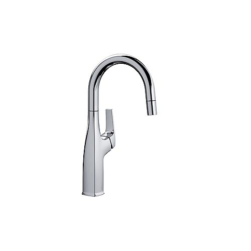 Blanco RIVANA BAR/PREP, Pull-down Kitchen Faucet, 1.5 GPM flow rate, Chrome