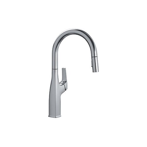 RIVANA HIGH-ARC, Pull-down Kitchen Faucet, 1.5 GPM (Dual-spray), Stainless Finish