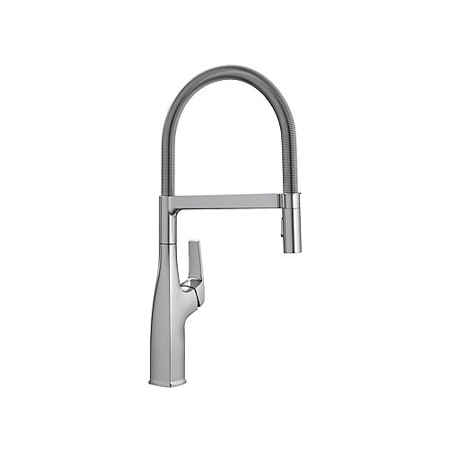 Blanco RIVANA SEMI-PRO, Pull-down Kitchen Faucet, 1.5 GPM (Dual-spray), Stainless Finish