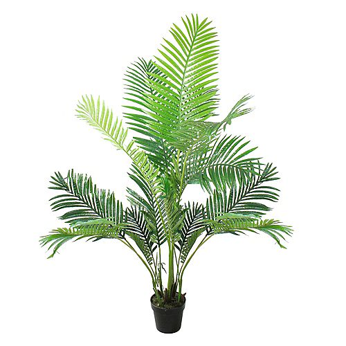 """69"""" Potted Artificial Green Areca Palm Tree"""