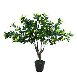 """45"""" Vert et Potted Arbre artificiel jaune citron"""