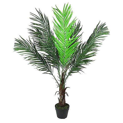 """47.25"""" Potted Brown and Green Artificial Phoenix Palm Tree"""